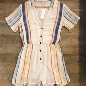 VICI Vicidolls Striped Romper Shorts Linen Medium